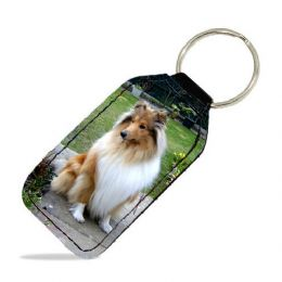 Personalised Leather Keyring | Photo Keyring | Leather Photo Keyring In Velvet Gift Pouch